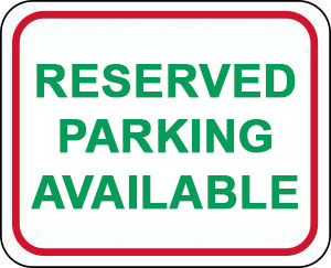 "Sign showing ""Reserved Parking Only, Lot Full"""