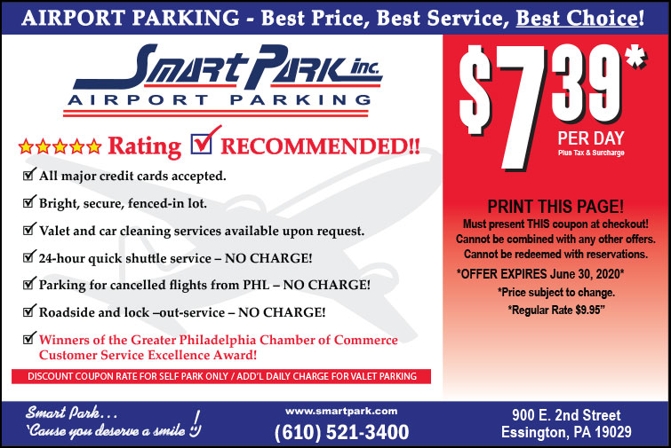 PHL Airport Parking Coupon for Philadelphia Airport Parking