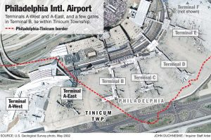 Philadelphia Airport Map